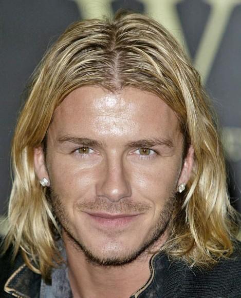 David Beckham Layered Long Hairstyles for Men
