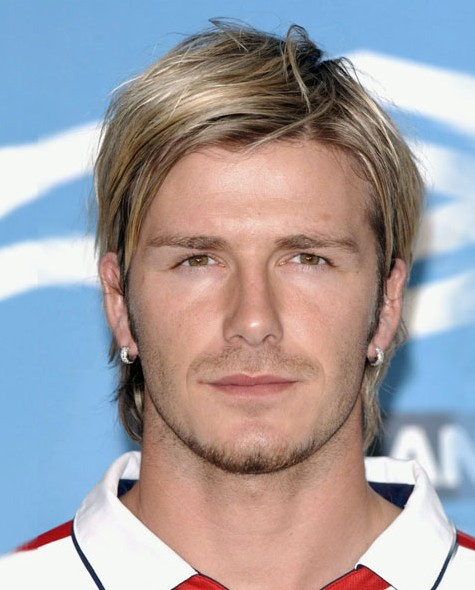 David Beckham Medium Straight Hairstyle