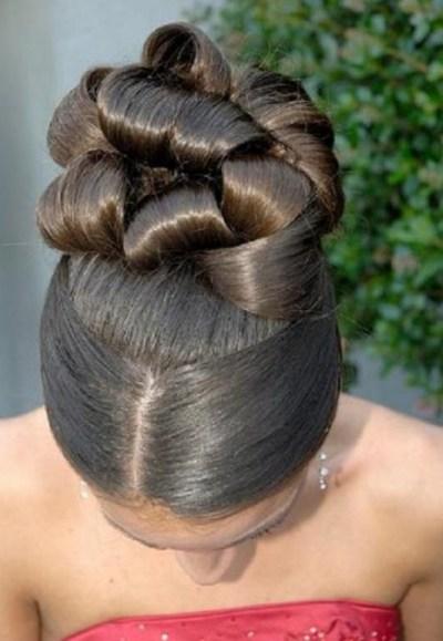 Latest Elegant African American Wedding updo Hairstyles 2013