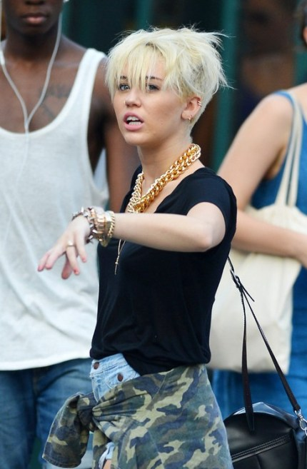 Miley Cyrus Short Hairstyles 2013