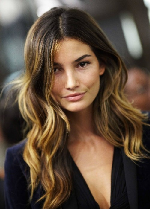Sexy-ombre-hair-from-Lily-Aldridge