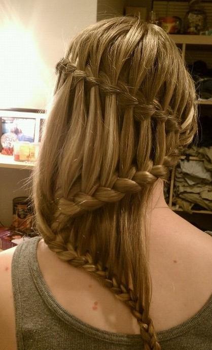 Stylish Waterfall Braid Hairstyles for Teen Girls