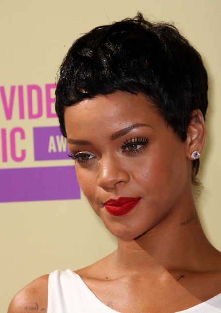 2013 Short Hair Trends: Rihanna Short Black Boy Haircut