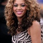 Beyonce Knowles Long Ombre Curly Hair Style