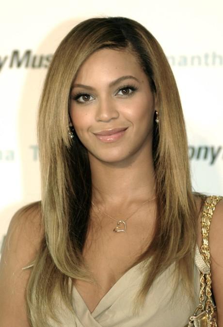 Beyonce Knowles Long Sleek Hairstyles