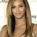Beyonce Knowles Long Sleek Hairstyles