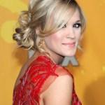 Carrie Underwood Loose Bun Updo Hairstyle