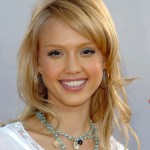 Jessica Alba Layered Hairstyles with Bangs