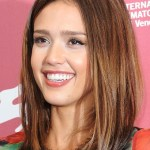 Jessica Alba Medium Straight Haircut