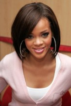 Rihanna Cute Straight Bob Hairstyle