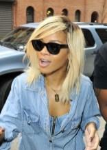 Rihanna Shoulder Length Straight Ombre Hair for Spring