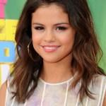 Selena Gomez Medium Length Straight Hairstyle
