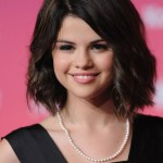 Selena Gomez Short Hair Tousled Curly Bob Hairstyle