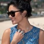 Vanessa Hudgens Loose Bun Hairstyle