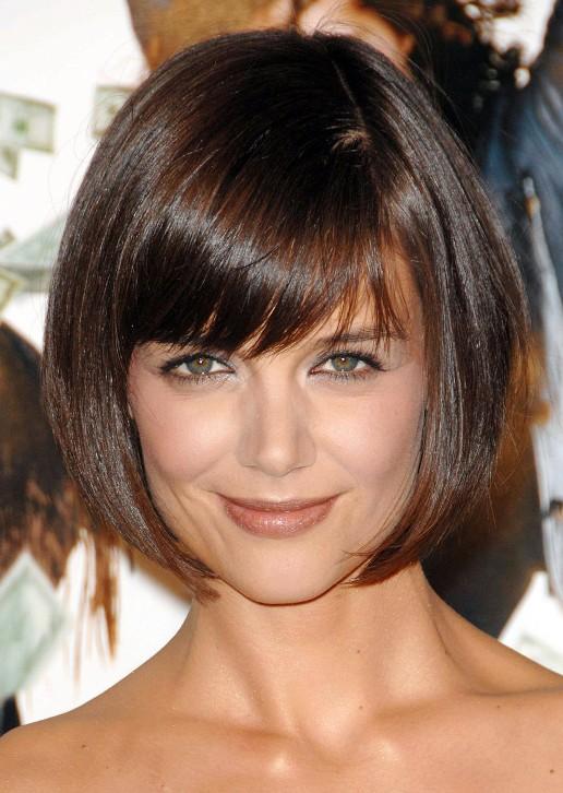 Katie Holmes Cute Short Bob Haircut: Box Bob