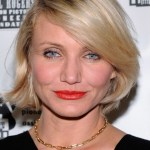 Cameron Diaz Blonde Bob Hairstyle with Bangs