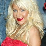 Christina Aguilera Long Blonde Hairstyles