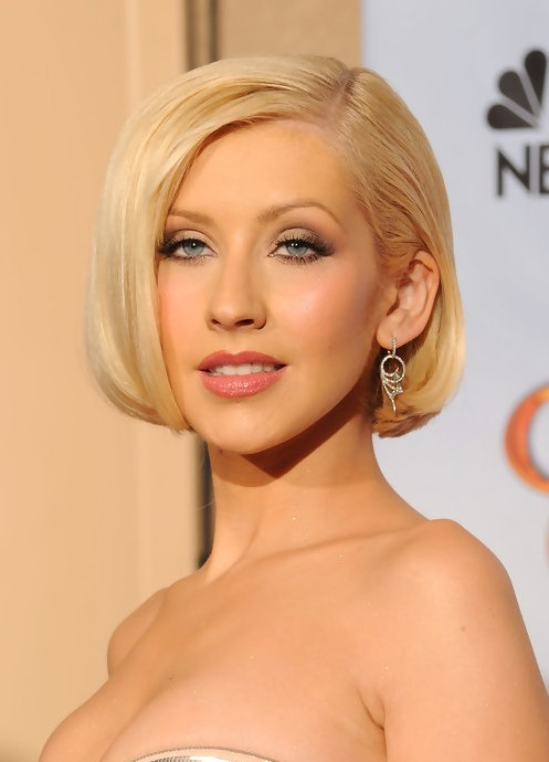 Christina Aguilera Short Haircut