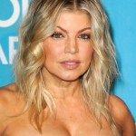 Fergie Hairstyle: center parted Tousled Ombre Hair