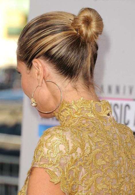 Heidi Klum Elegant Classic Bun Updo Back View