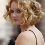 Lily Cole Short Curly Bob Hairstyle for Wedding