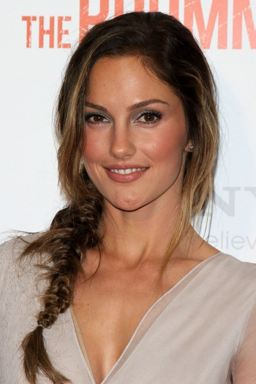 Minka Kelly Cute Loose Side Braided Hairstyle