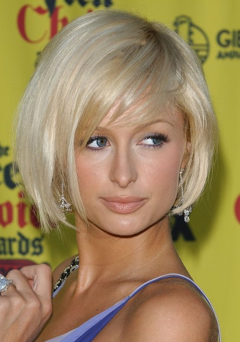 Paris Hilton Cute Short Bob Haircuts Hairstyles Weekly