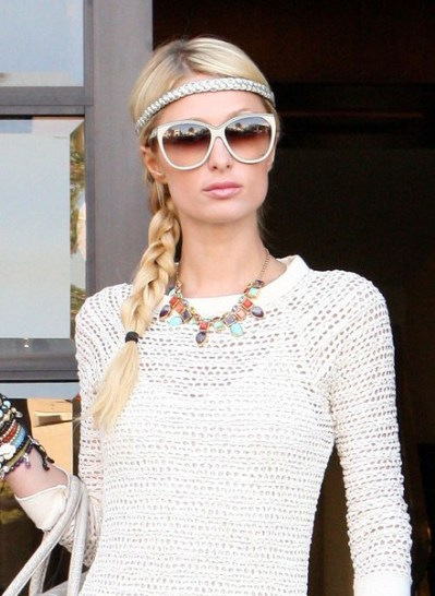 Paris Hilton Braided Hairstyles