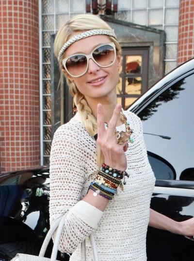 Paris Hilton Cute Braided Hairstyles