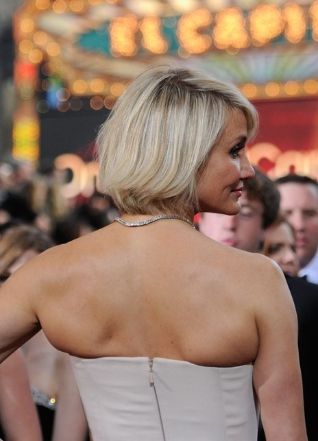 Side View of Cameron Diaz Bob Hairstyle