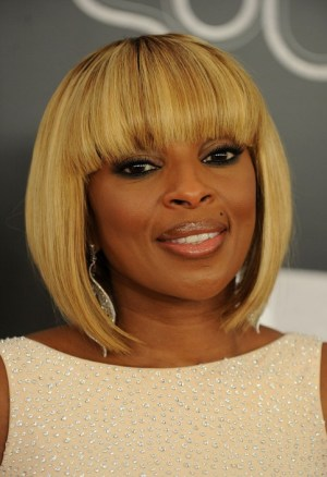 African American Short Blonde Bob Hairstyles