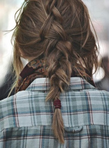 Back View of Inverted French Braid