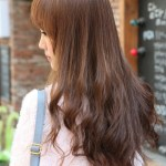 Back View of Korean Long Hairstyle