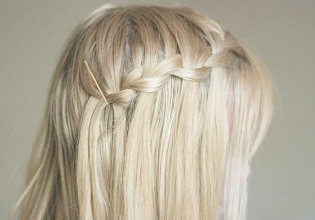 Beautiful Waterfall Braid for Long Hair