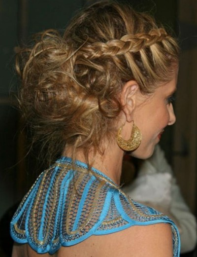 Celebrity Inverted French Braid