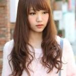 Cute Korean Hairstyle for Long Hair