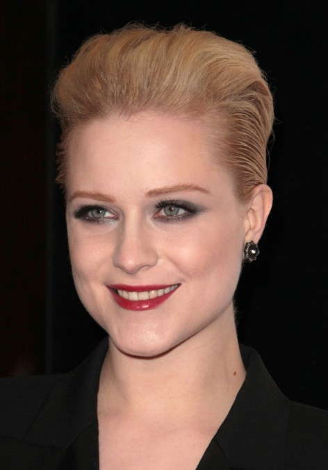 Evan Rachel Wood Slicked-back Bob Hairstyle
