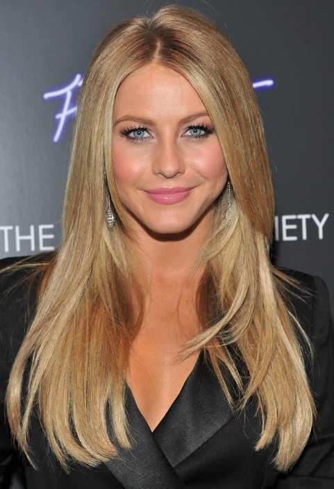 Julianne Hough Layered Long Straight Hairstyle