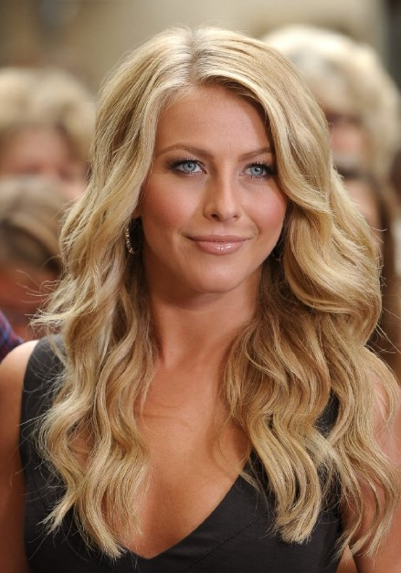 Julianne Hough Long Blonde Soft Curly Hairstyle