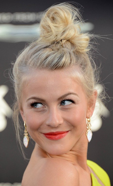 Julianne Hough Topknot Updo Hairstyle