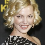 Katherine Heigl Short Blonde Curly Bob Hairstyle