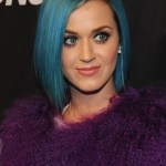 Katy Perry Short Blue Bob Hairstyle