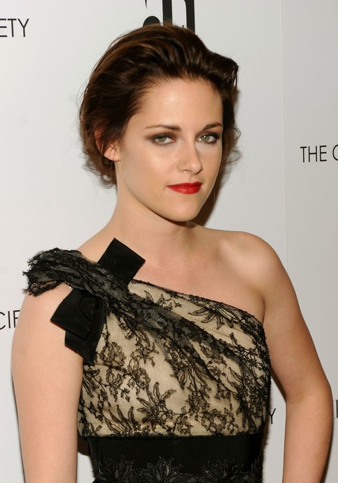 Kristen Stewart Red Carpet Loose Bun Updo