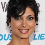 Morena Baccarin Shaggy Layered Short Black Haircut