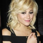 Pixie Lott Layered Short Bob Hairstyle with Bangs