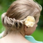 Twist Braid with Flowers