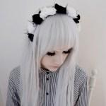 White Sleek Edgy Gothic Hairstyle