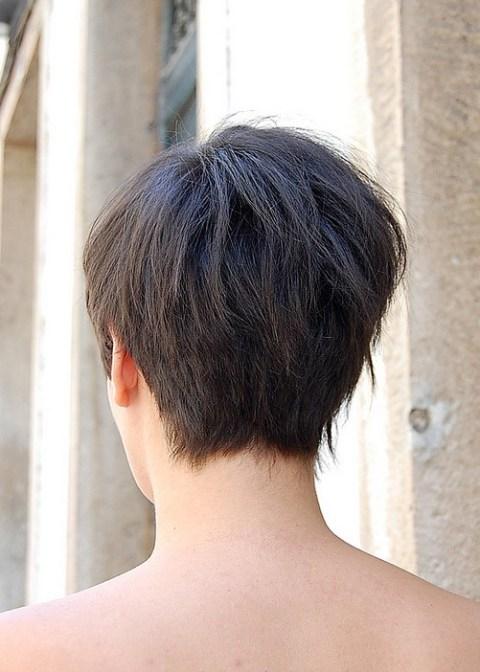 Back View of Asymmetric Bob Haircut