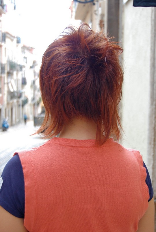 Trendy Stylish Shaggy Surprise LongShort Haircut