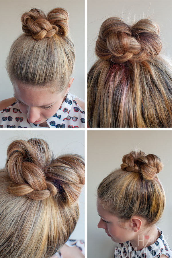 Braided Bun with a Contemporary Twist